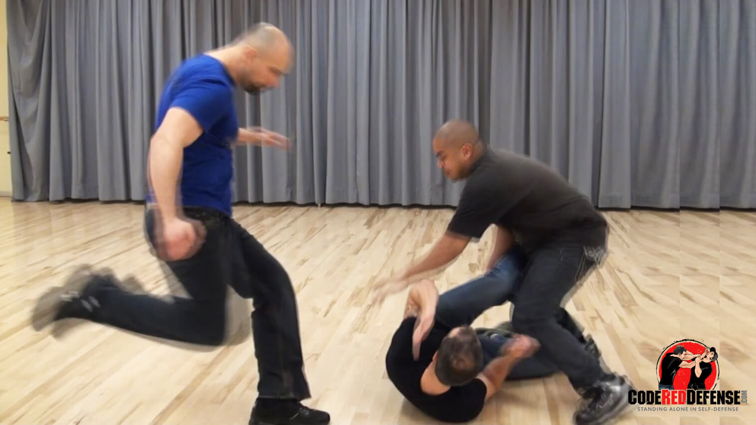 Learn self-defense tips against stomping in a street fight