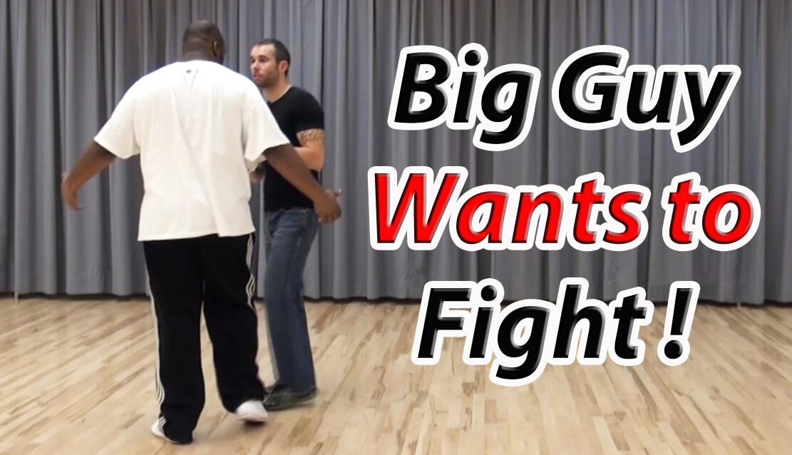 self defense against a larger attacker