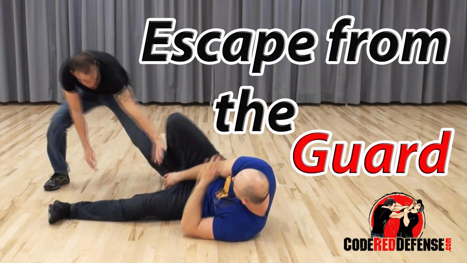 learn how to escape a bigger attacker from the guard