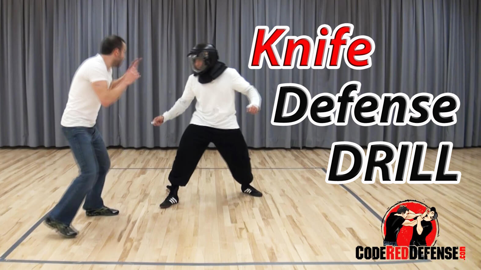 learn knife defense parrying and striking drill