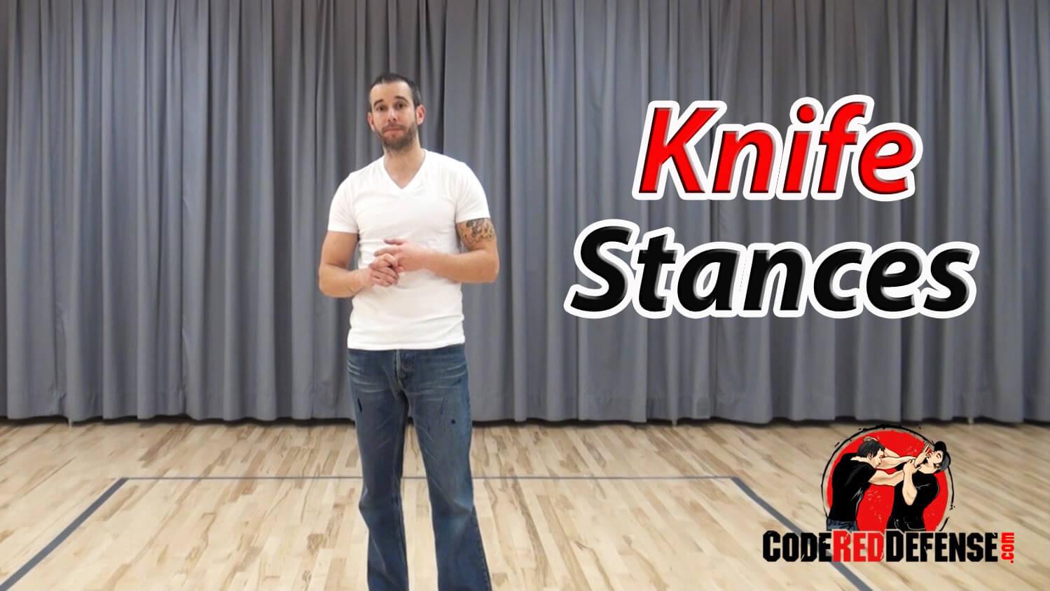 knife defense stances