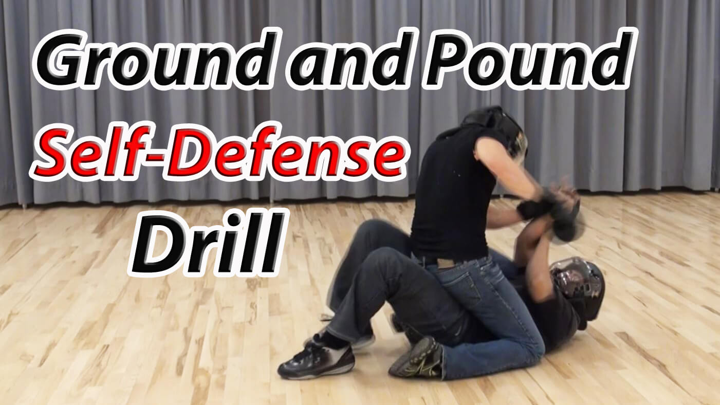 Self defense tips on the ground & pound drill