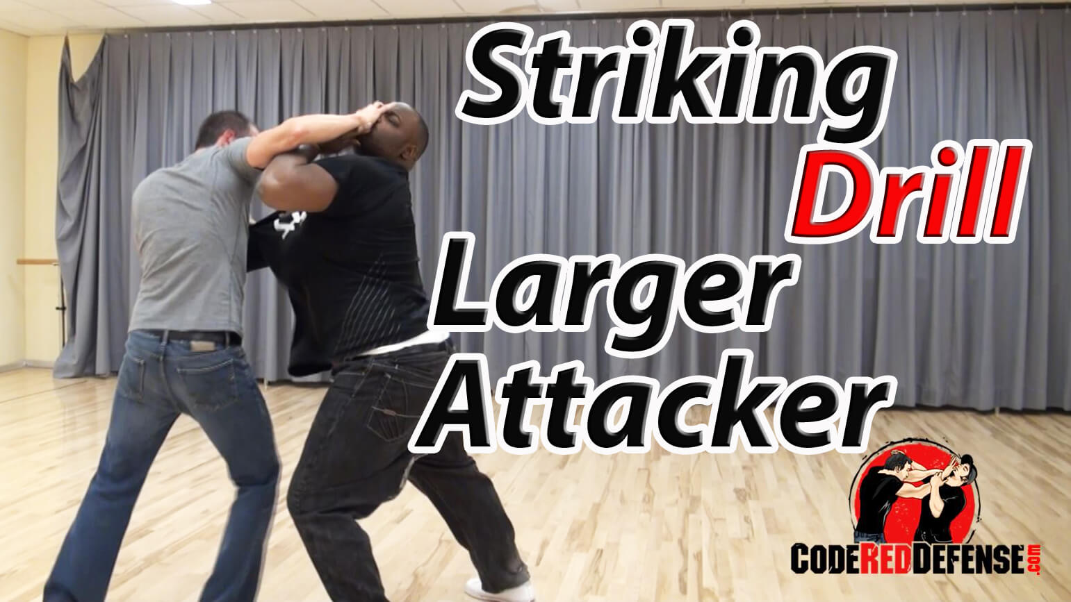 The best striking drill against a larger attacker