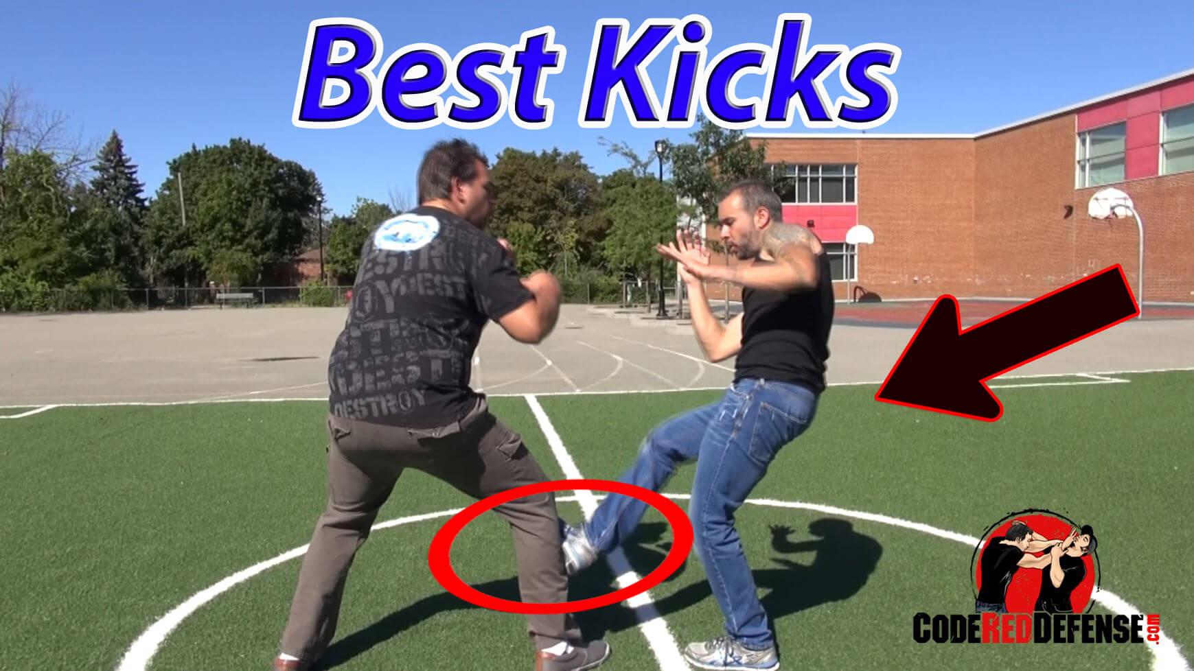 self-defense kicks